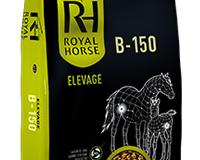 B-150 : Aliment complémentaire de fourrage pour cheval d'élevage, Aliment floconné complémentaire de fourrage et / ou herbe.